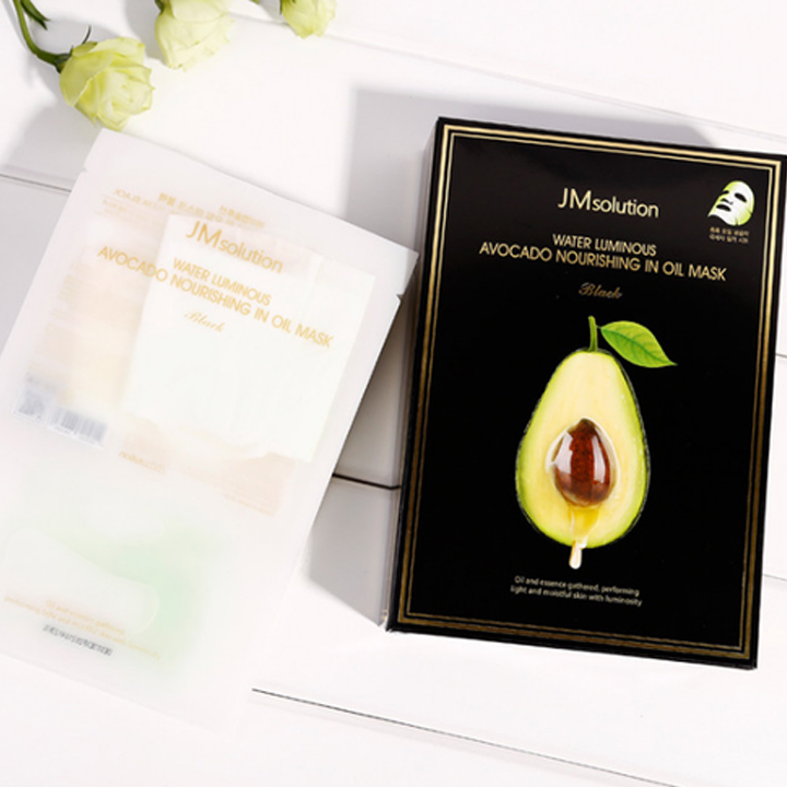Resultado de imagem para JMsolution Water Luminous Avocado Nourishing In Oil Mask how to use