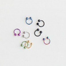 PINKROCKET BASIC TWO BALL RING PIERCING [8mm]
